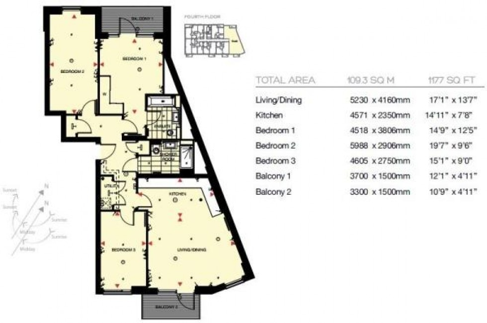 Floorplan for Plough Way, Surrey Quays
